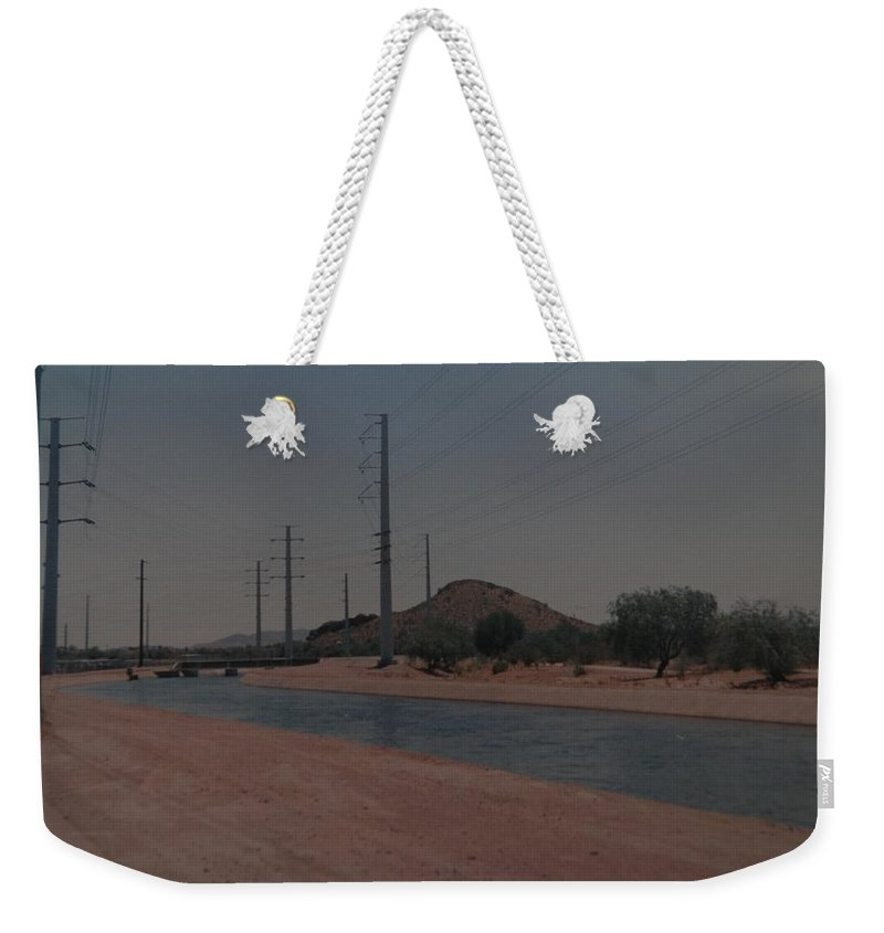 Arizona Weekender Tote Bag featuring the photograph Arizona Waterway by Rob Hans