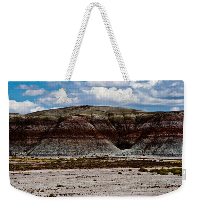 Painted Weekender Tote Bag featuring the photograph Arizona's Painted Desert #3 by Robert J Caputo
