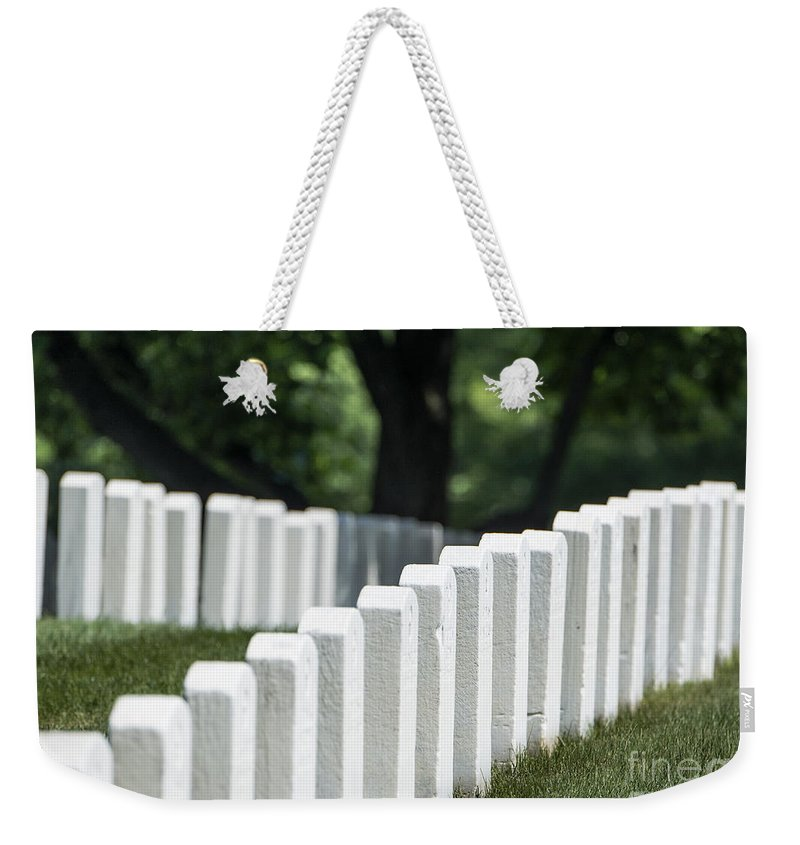 America Weekender Tote Bag featuring the photograph Arlington Cemetery by John Greim
