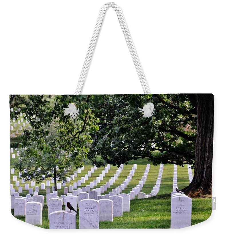 Cemetery Weekender Tote Bag featuring the photograph Arlington by Eileen Brymer