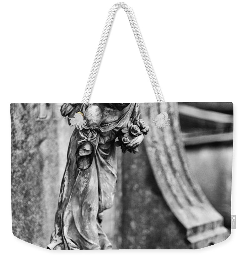 Cemetery Angel Weekender Tote Bag featuring the photograph Arm Less Angel by Brothers Beerens