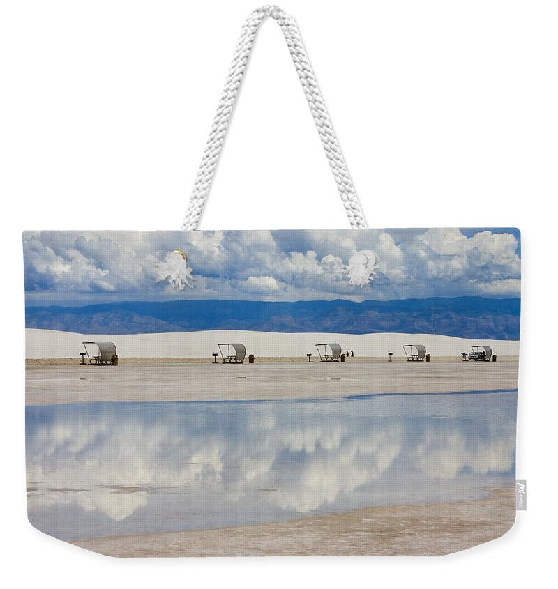 New Mexico Weekender Tote Bag featuring the photograph Armageddon Picnic by Skip Hunt