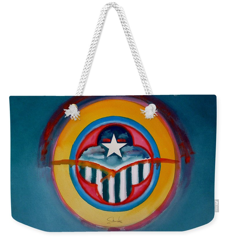 Button Weekender Tote Bag featuring the painting Army by Charles Stuart
