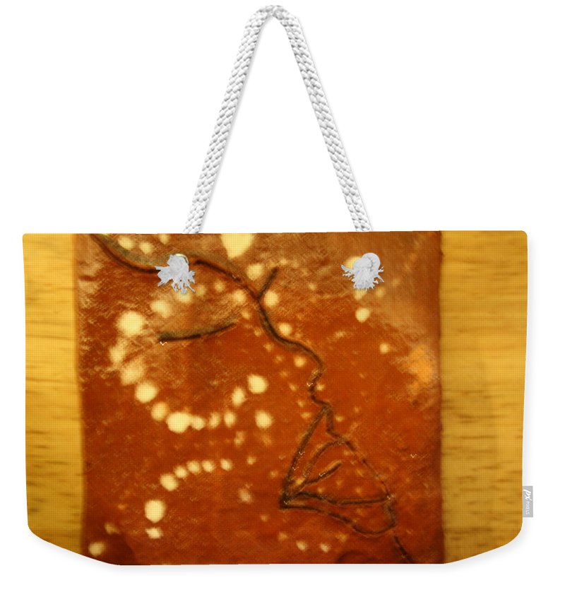 Jesus Weekender Tote Bag featuring the ceramic art Aroma - Tile by Gloria Ssali
