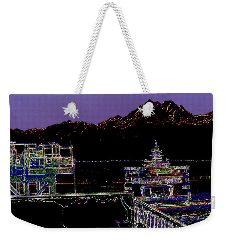 Seattle Weekender Tote Bag featuring the photograph Arrival by Tim Allen