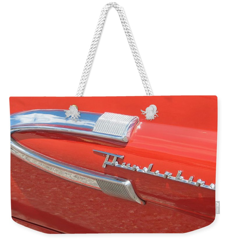 Thunderbird Weekender Tote Bag featuring the photograph Arrow Head by Kelly Mezzapelle