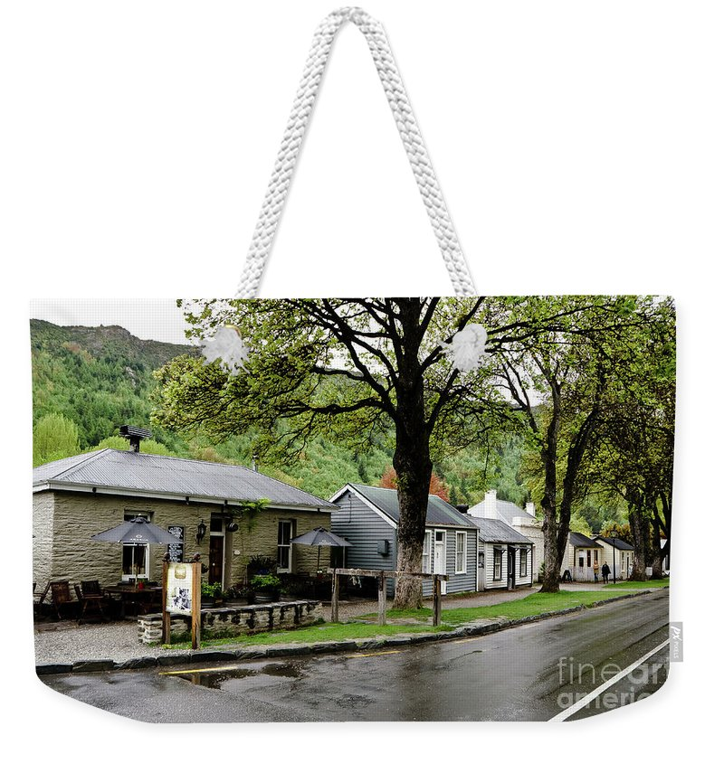 Queenstown Weekender Tote Bag featuring the photograph Arrowtown, New Zealand by Yurix Sardinelly