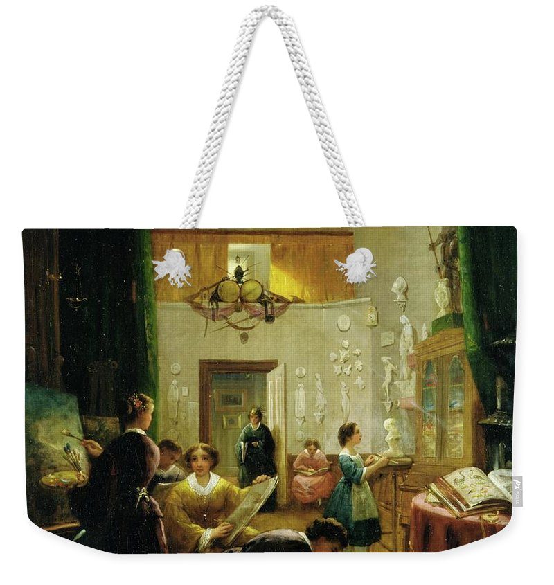 Women's Art Class Weekender Tote Bag featuring the painting Art Class by Louis Lang