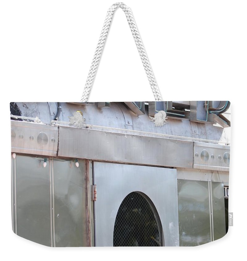 Architecture Weekender Tote Bag featuring the photograph Art Deco Diner by Rob Hans