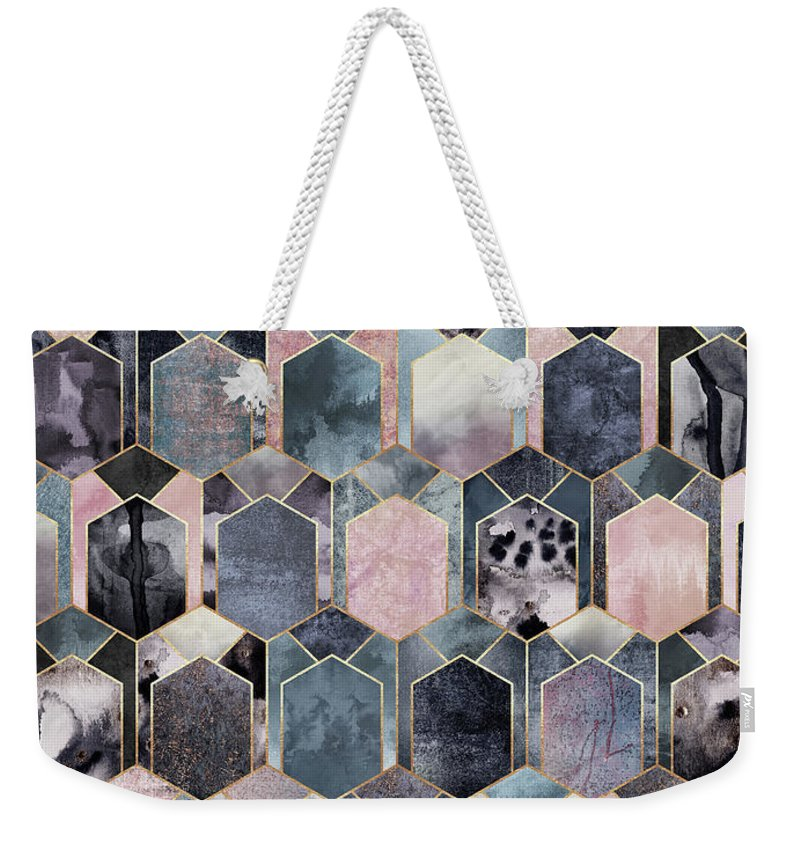 Graphic Weekender Tote Bag featuring the digital art Art Deco Dream 1 by Elisabeth Fredriksson