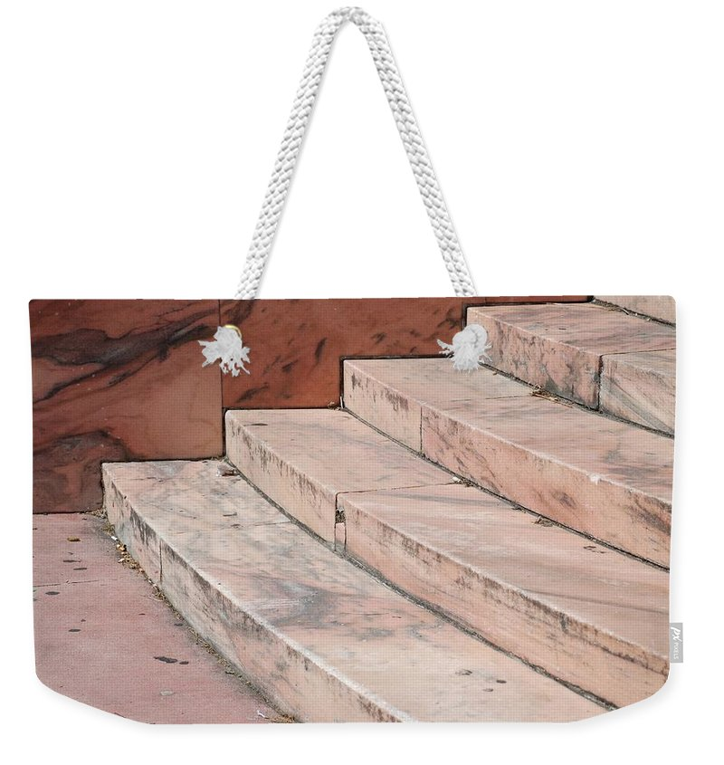 Architecture Weekender Tote Bag featuring the photograph Art Deco Steps by Rob Hans
