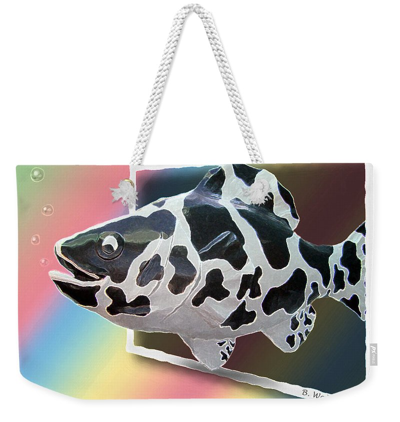 2d Weekender Tote Bag featuring the photograph Art Fish Fun by Brian Wallace