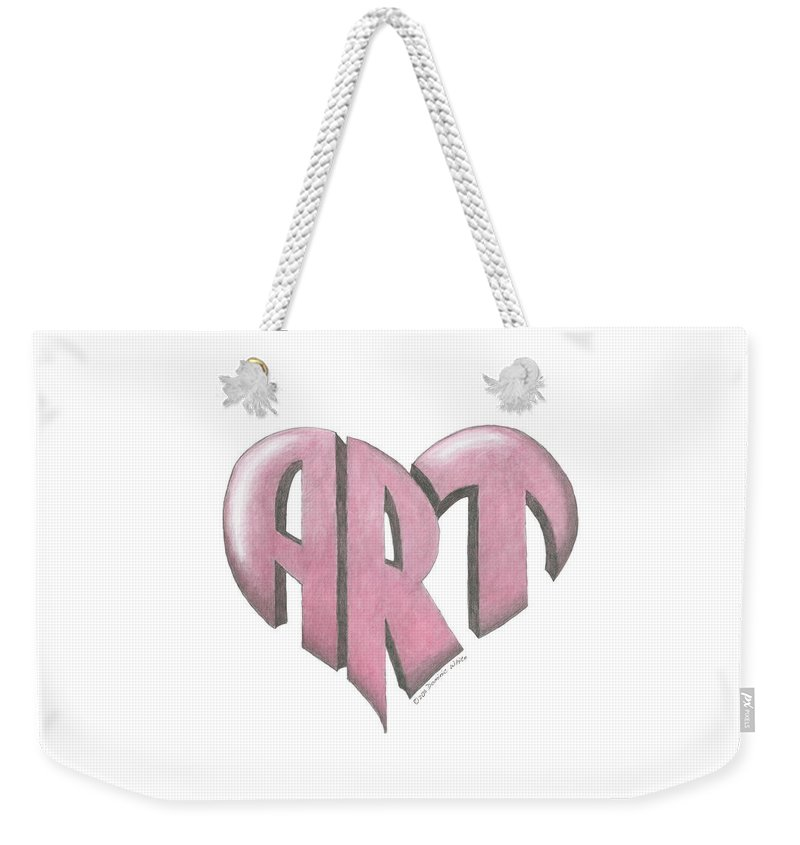 Art Weekender Tote Bag featuring the painting Art Heart by Dominic White