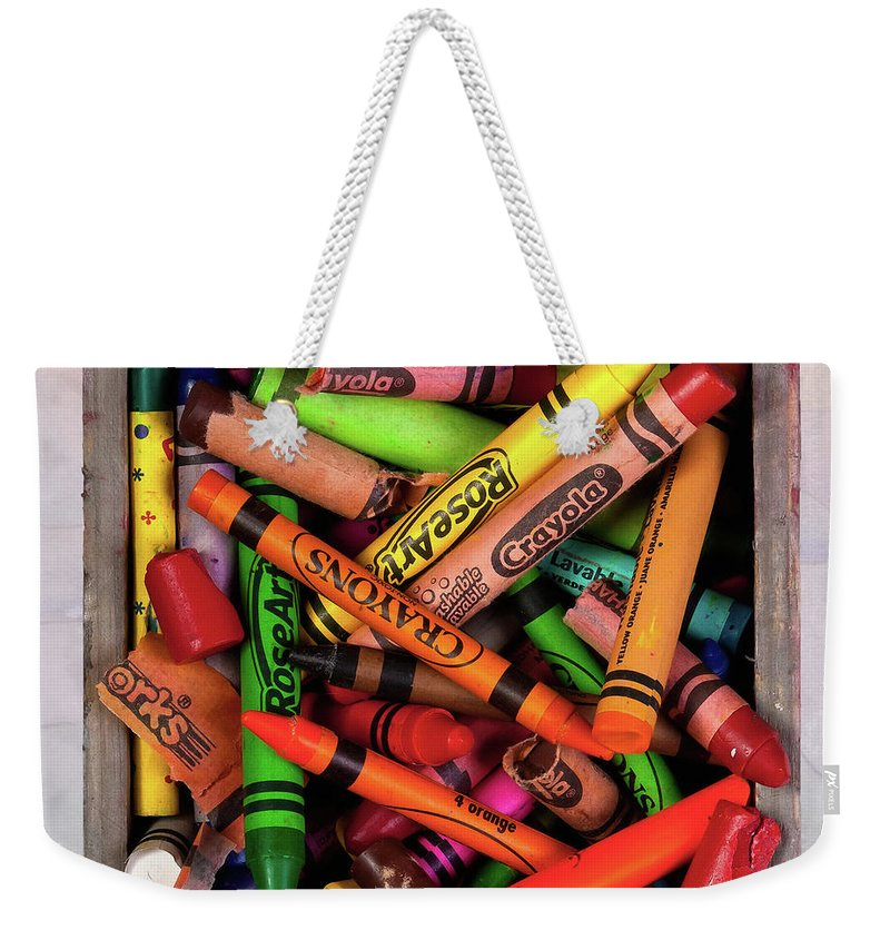 Crayon Weekender Tote Bag featuring the photograph Art In A Box by Tom Mc Nemar