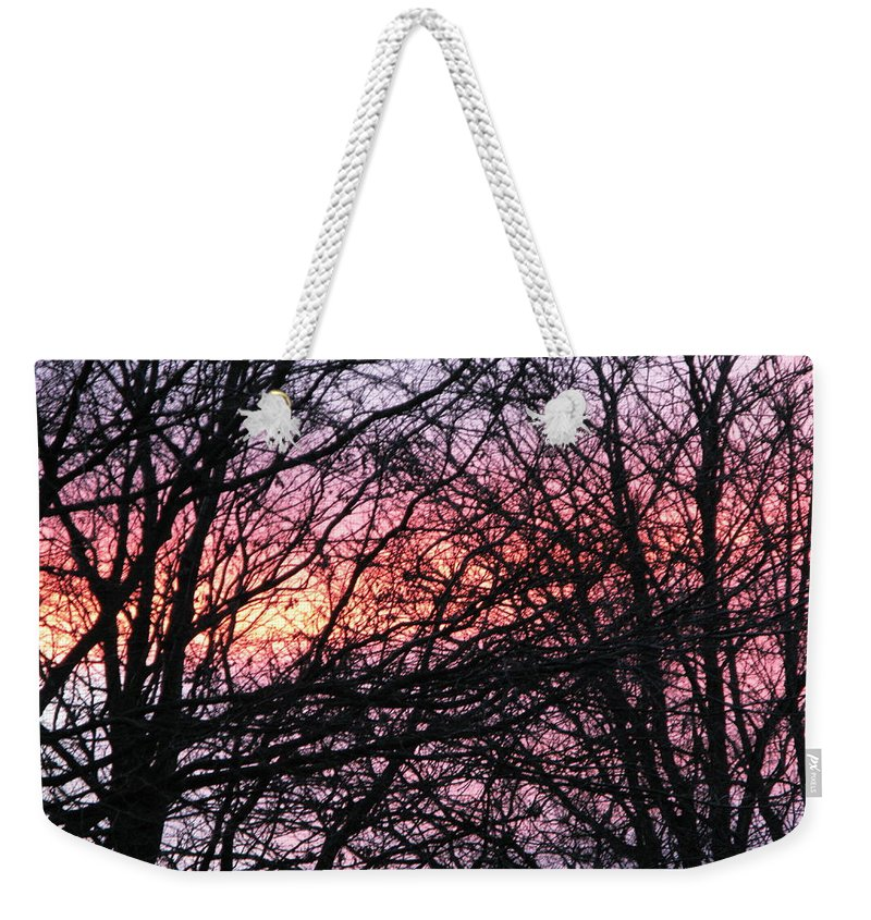 Winter Trees Weekender Tote Bag featuring the photograph Art Inspired Nature by Maria Joy