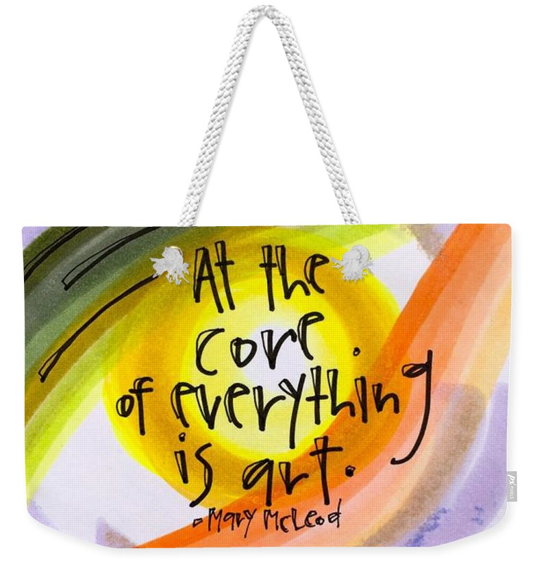 Art Weekender Tote Bag featuring the photograph Art is at the core. by Vonda Drees
