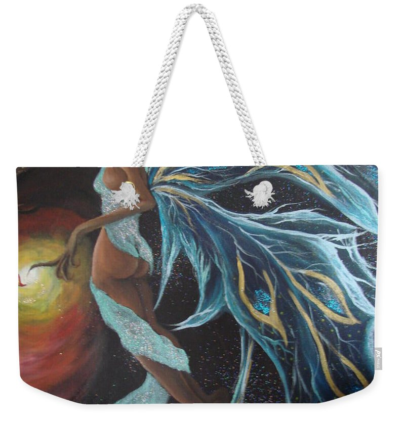 Figure Weekender Tote Bag featuring the painting Art Is Magic by Glory Fraulein Wolfe