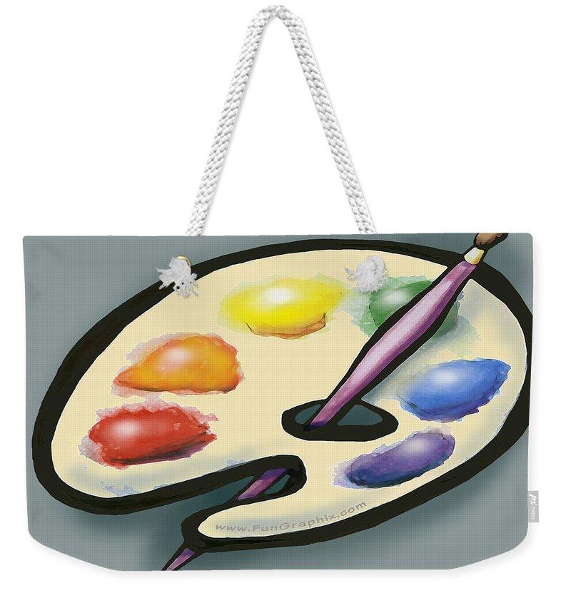 Art Weekender Tote Bag featuring the digital art Art by Kevin Middleton