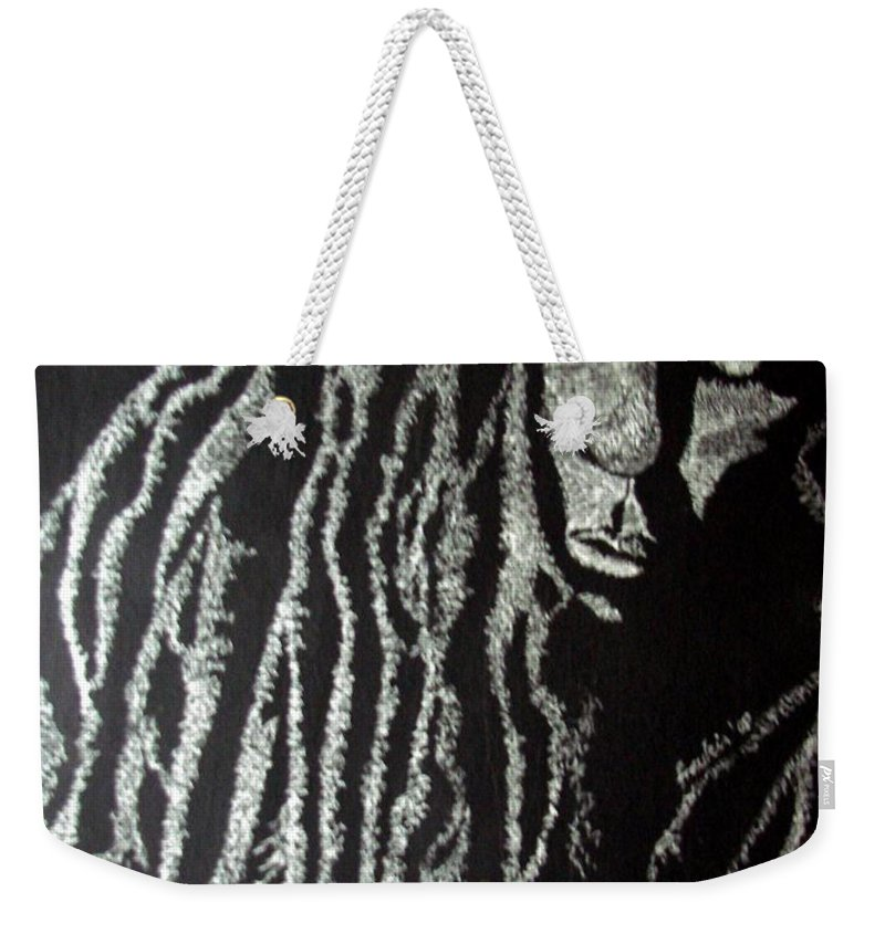 Portrait Weekender Tote Bag featuring the painting Art of Freedom by Glory Fraulein Wolfe