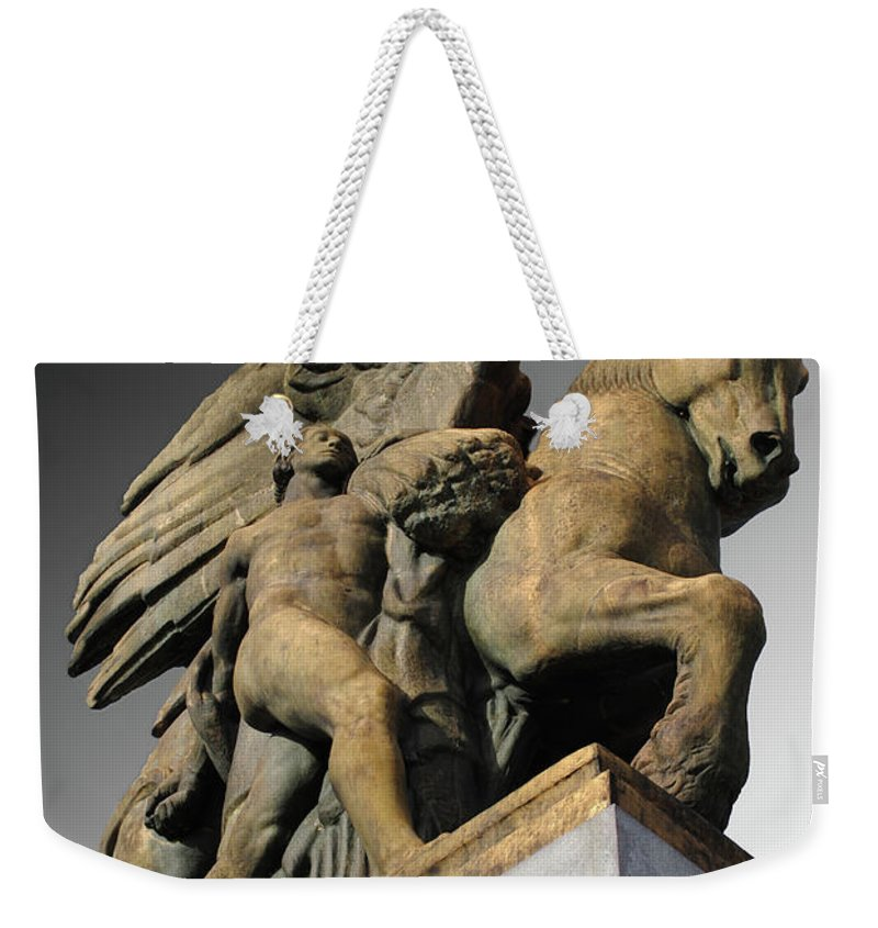 Arlington Weekender Tote Bag featuring the photograph Art Of Peace by Jost Houk
