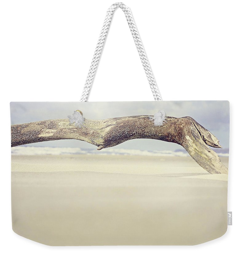 Beach Weekender Tote Bag featuring the photograph Art On The Beach by Janie Johnson