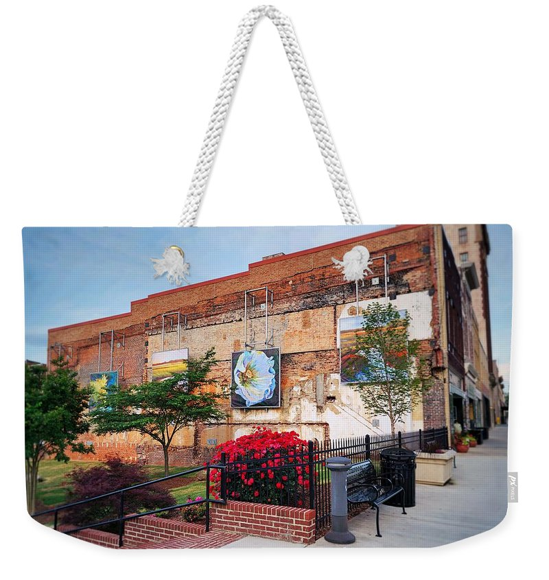 Fine Art Weekender Tote Bag featuring the photograph Art Scene by Rodney Lee Williams