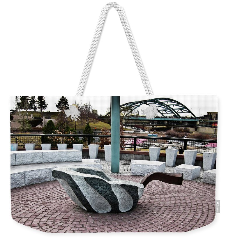Leaf Weekender Tote Bag featuring the photograph Art Upon Art by Angus Hooper Iii