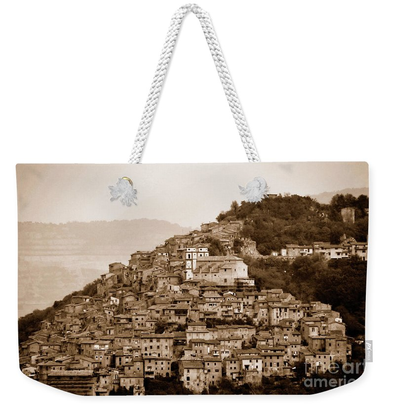 Antique Photo Weekender Tote Bag featuring the photograph Artena by Ilaria Andreucci