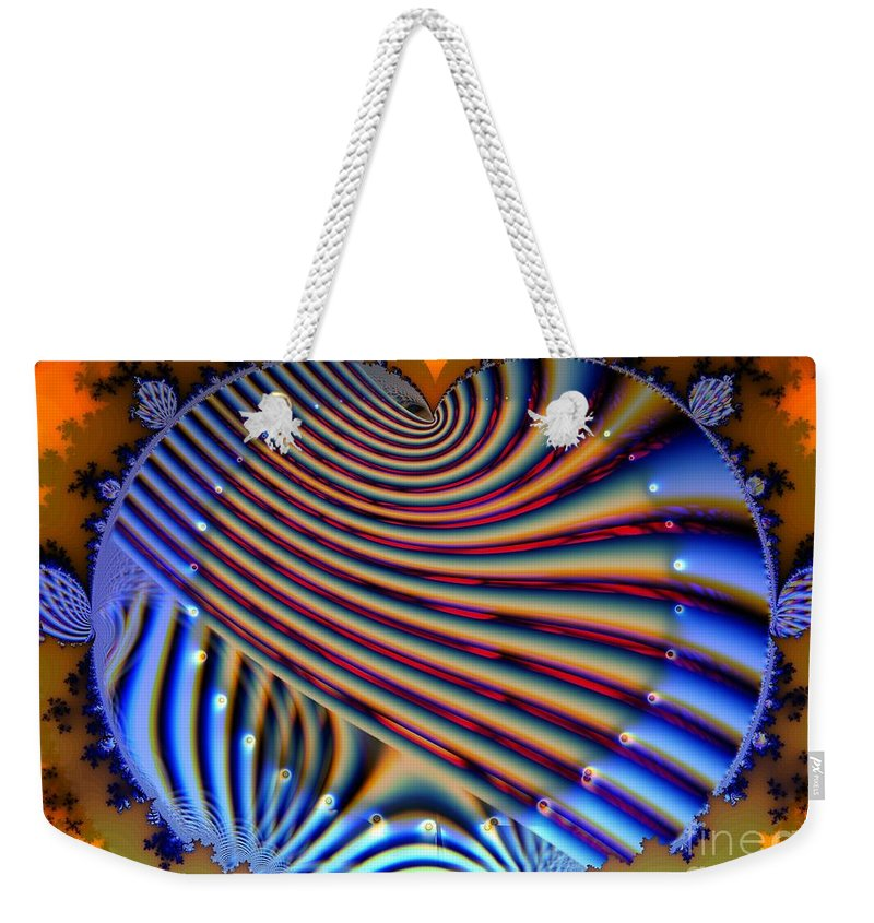 Heart Weekender Tote Bag featuring the digital art Artificial Heart by Ron Bissett