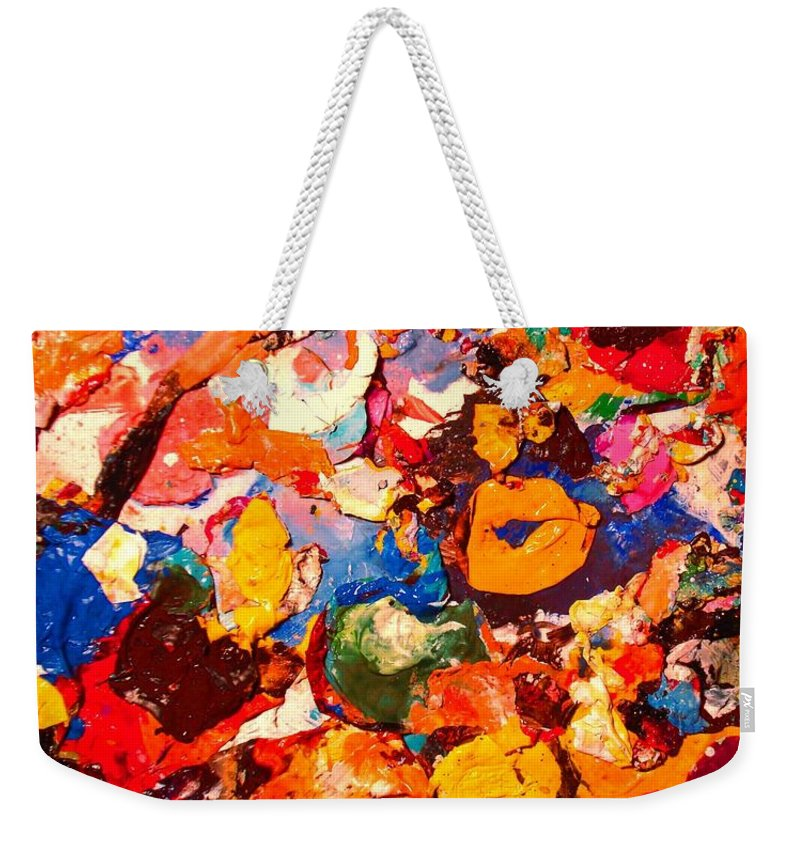 Artist Palette Weekender Tote Bag featuring the painting Artist Palette by Natalie Holland