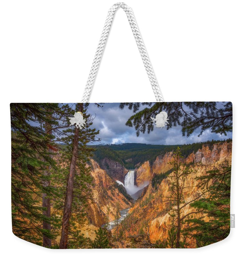 Yellowstone National Park Weekender Tote Bags