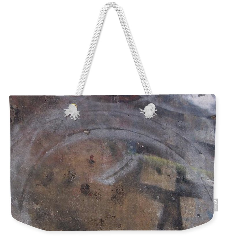 Artist Weekender Tote Bag featuring the photograph Artist Sidewalk 1 by Anita Burgermeister