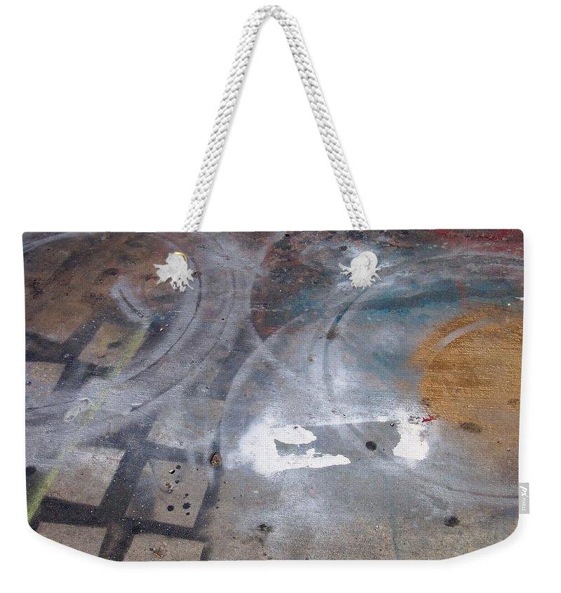 Artist Weekender Tote Bag featuring the photograph Artist Sidewalk 3 by Anita Burgermeister