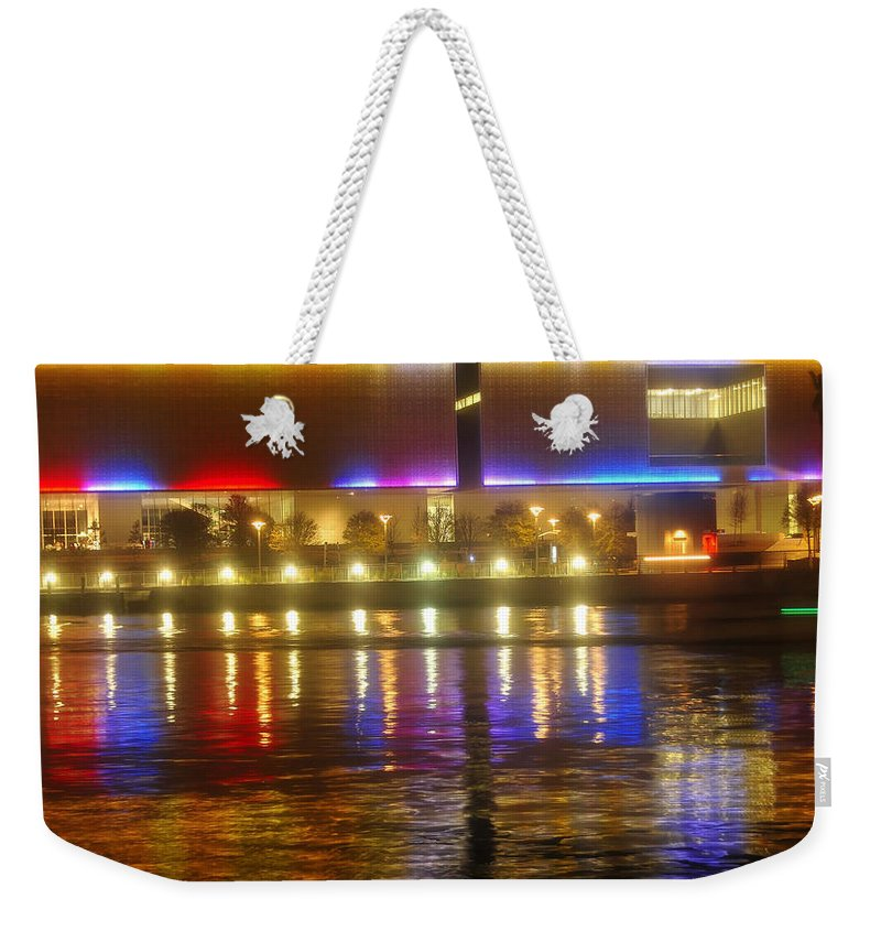 Tampa Bay Art Center Weekender Tote Bag featuring the photograph Artistic Reflections by David Lee Thompson