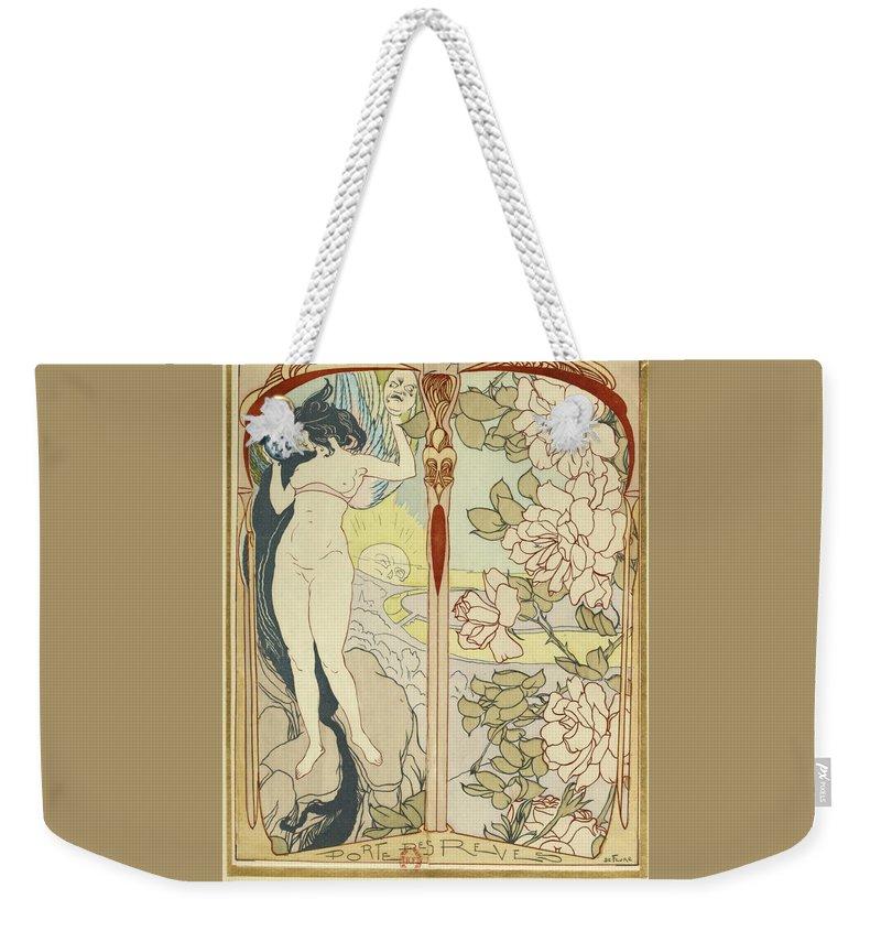 Georges De Feure Weekender Tote Bag featuring the painting Artwork For La Portes Des Reves by Georges de Feure