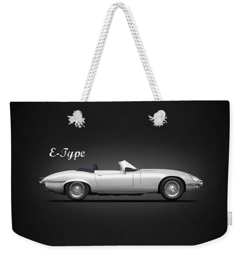 Jaguar E Type Weekender Tote Bag featuring the photograph Jaguar E Type by Mark Rogan