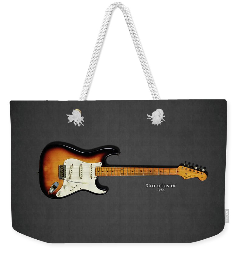 Fender Stratocaster Weekender Tote Bag featuring the photograph Fender Stratocaster 54 by Mark Rogan