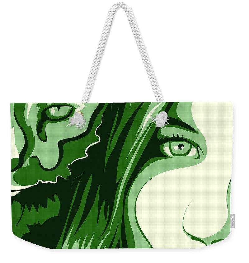 Animal Weekender Tote Bag featuring the digital art Portrait by Carolina Matthes