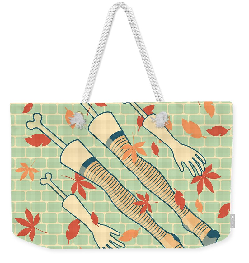 Legs Weekender Tote Bag featuring the drawing Fall In Love by Freshinkstain