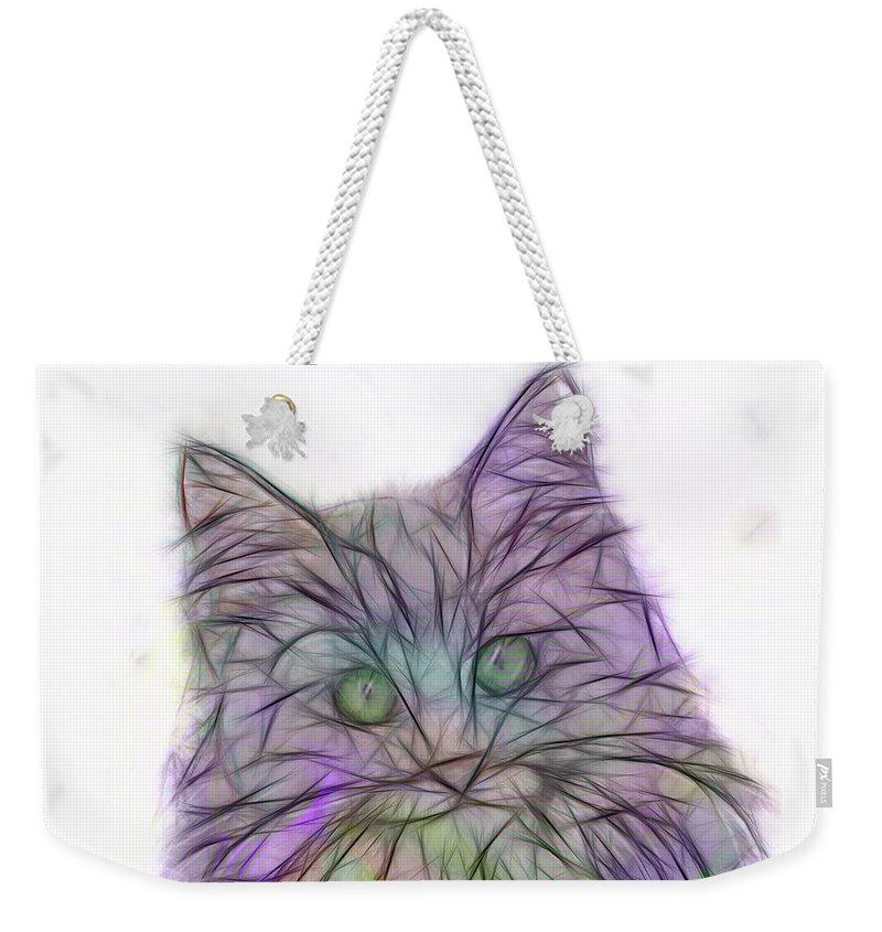 Cats Weekender Tote Bag featuring the digital art Too Cute by John Beck