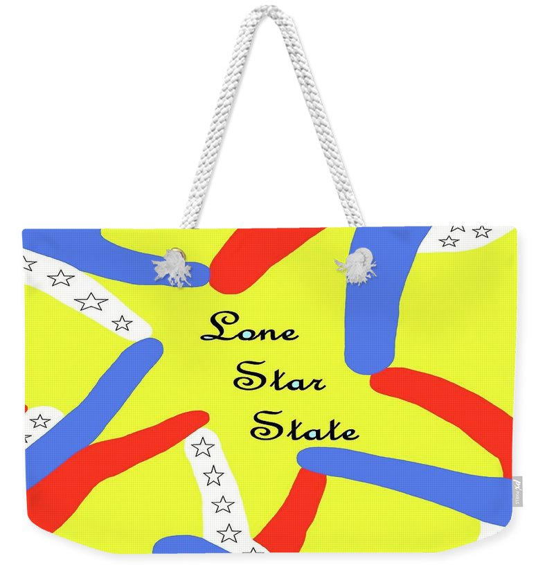Texas Weekender Tote Bag featuring the painting Lone Star State by Eloise Schneider Mote