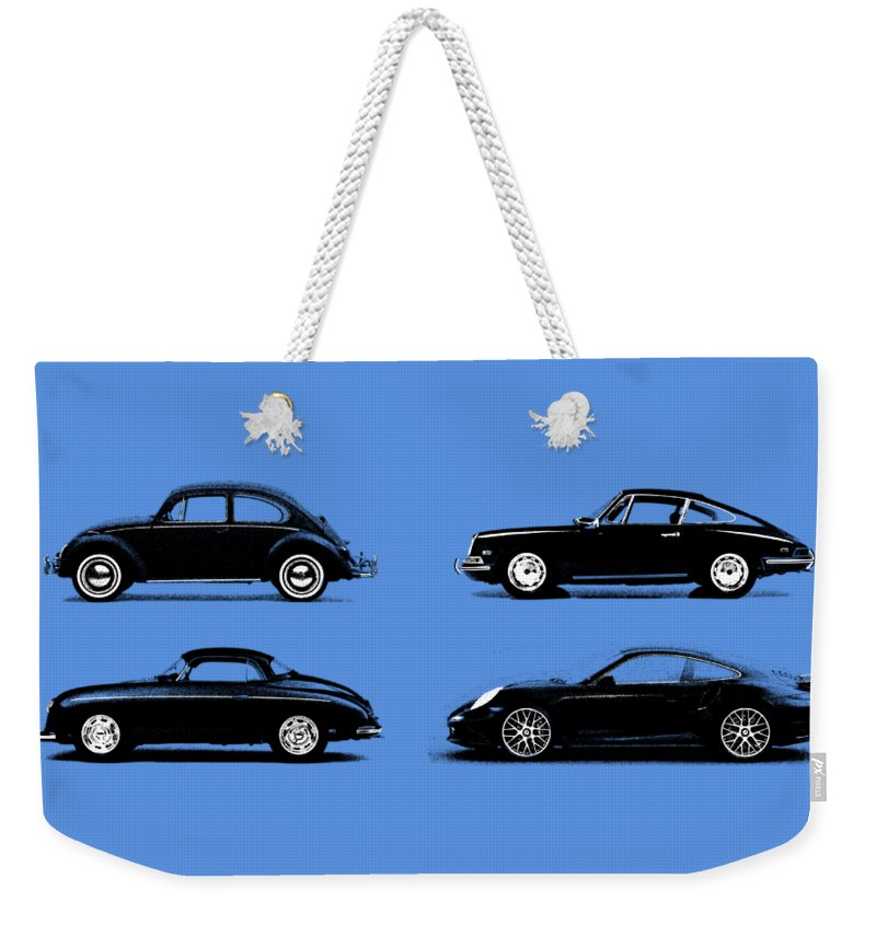 Porsche Weekender Tote Bag featuring the photograph Evolution by Mark Rogan