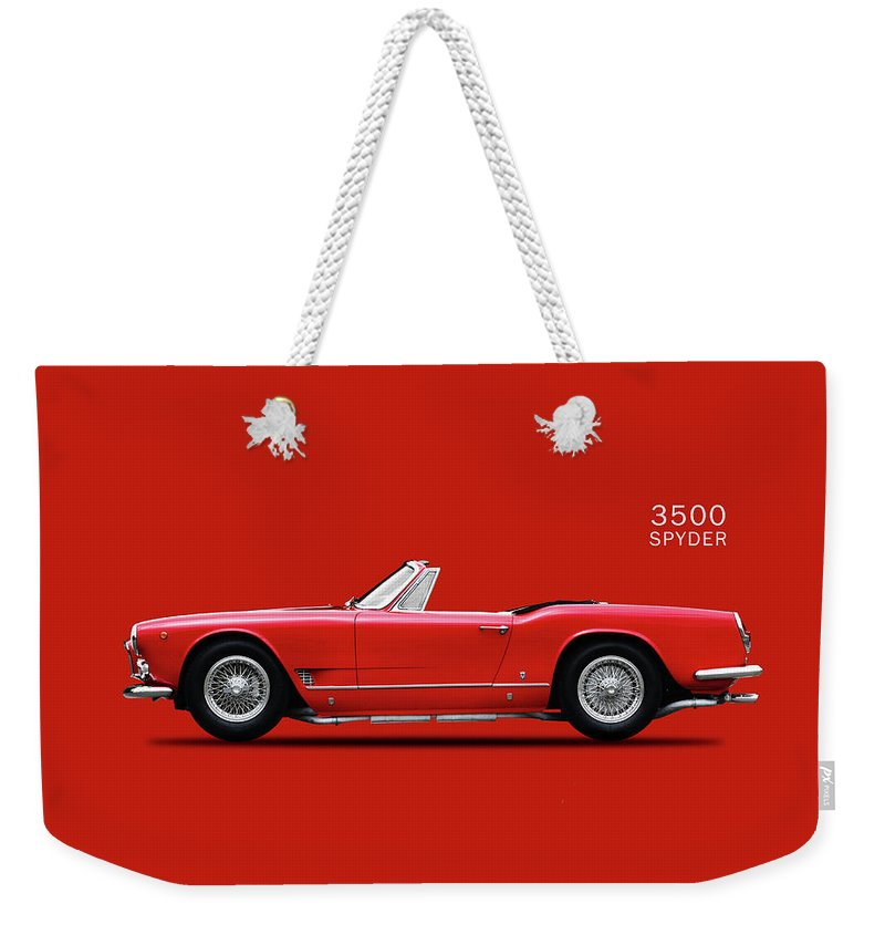 Maserati 3500 Spyder 1959 Weekender Tote Bag featuring the photograph The Maserati 3500 by Mark Rogan