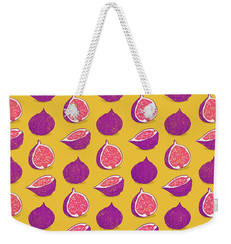 Iddle Weekender Tote Bag featuring the digital art Fig by Evgenia Chuvardina
