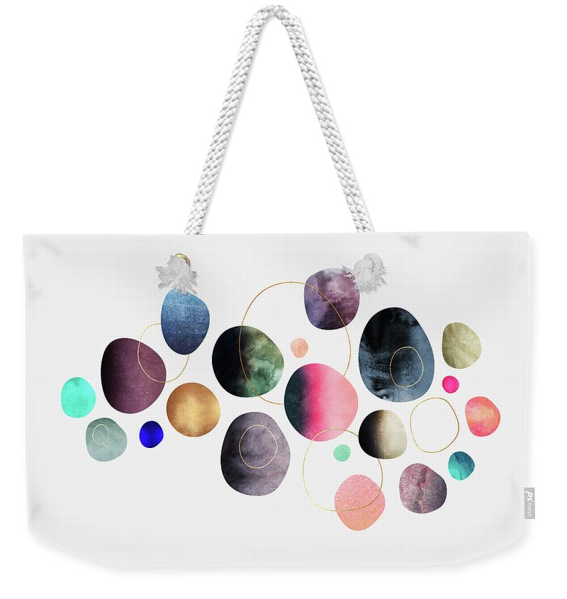 Minimal Digital Art Weekender Tote Bags