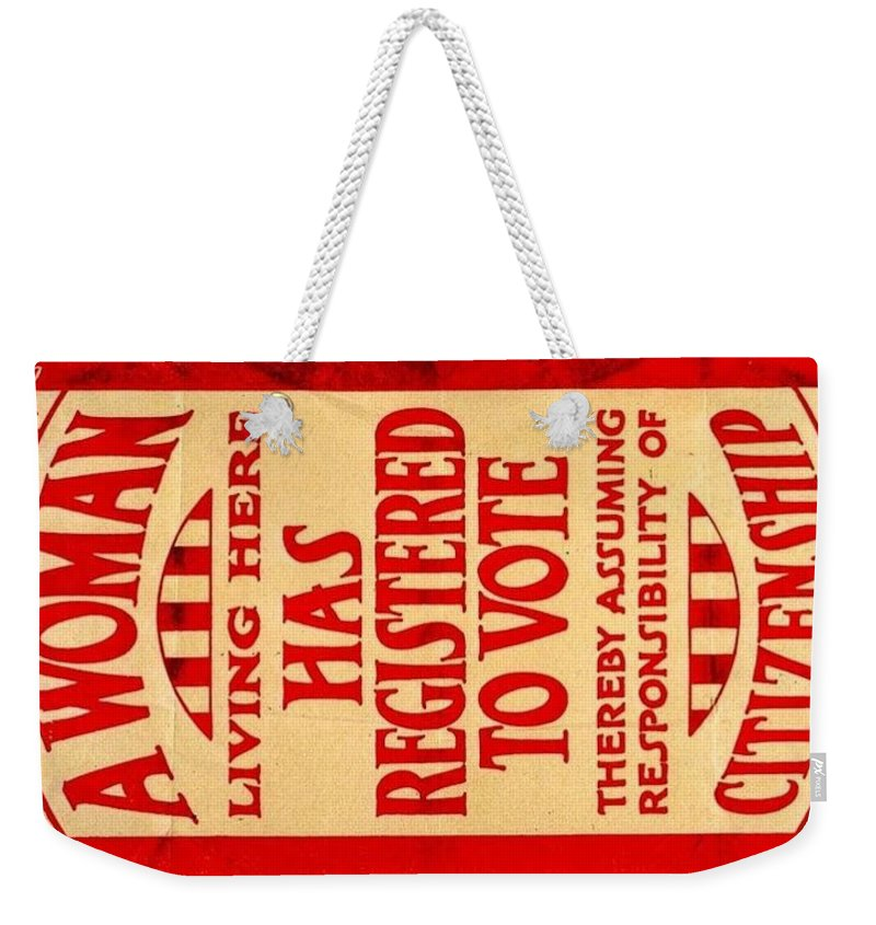 Equality Weekender Tote Bag featuring the digital art Equality by ReInVintaged