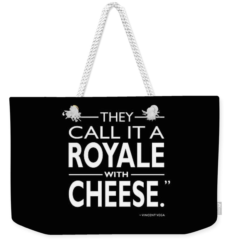 Royale With Cheese Weekender Tote Bag featuring the photograph A Royale With Cheese by Mark Rogan