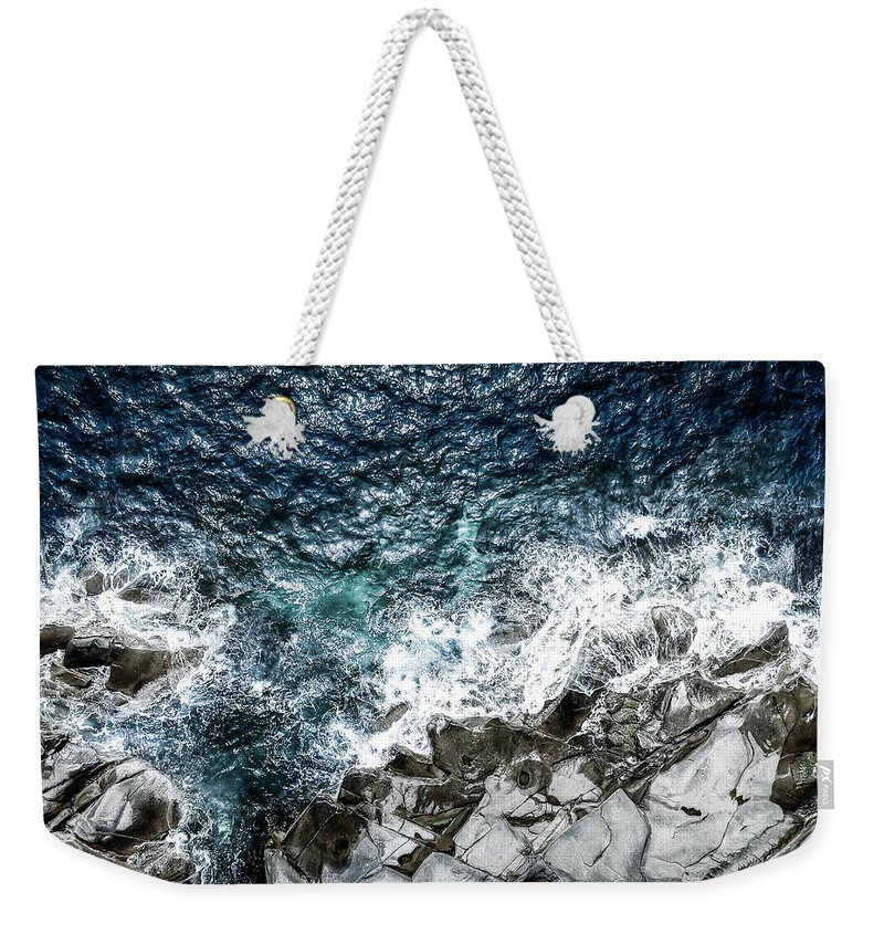 Drone Weekender Tote Bag featuring the photograph Skagerrak Coastline - Aerial Photography by Nicklas Gustafsson