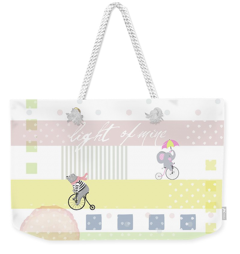 Children Weekender Tote Bag featuring the digital art Light Of Mine by Claire Tingen