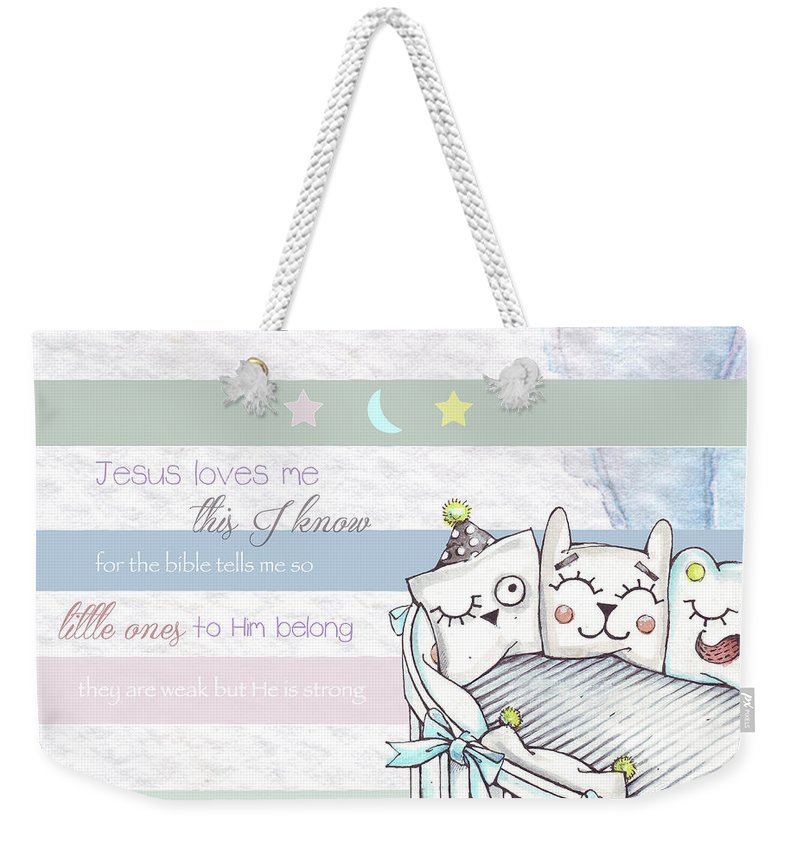 Weekender Tote Bag featuring the digital art Basic Rgb by Claire Tingen